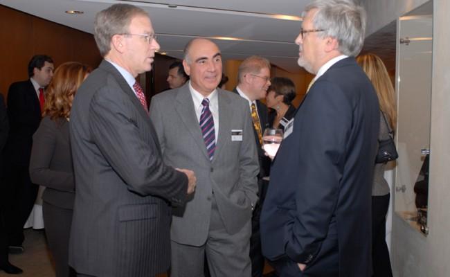 US Ambassador Charles Ries, Basil Tsaras and Dr. Michael Hammer